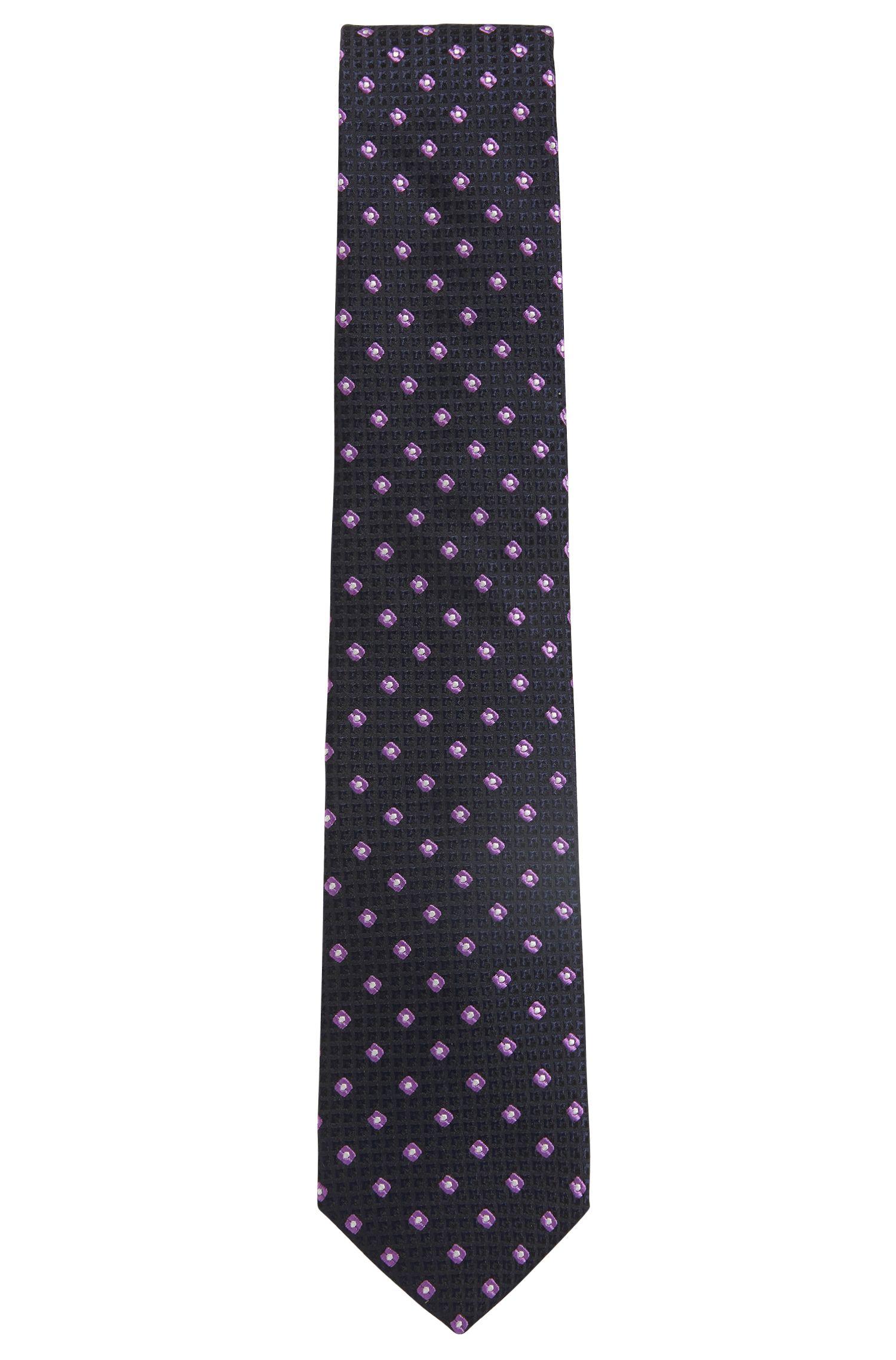 In Italië vervaardigde stropdas in een jacquard van zijde met dessin, Lila