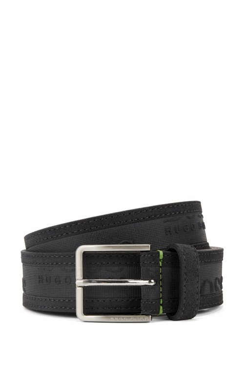 Hugo Boss - Logo-embossed belt in soft suede - 1