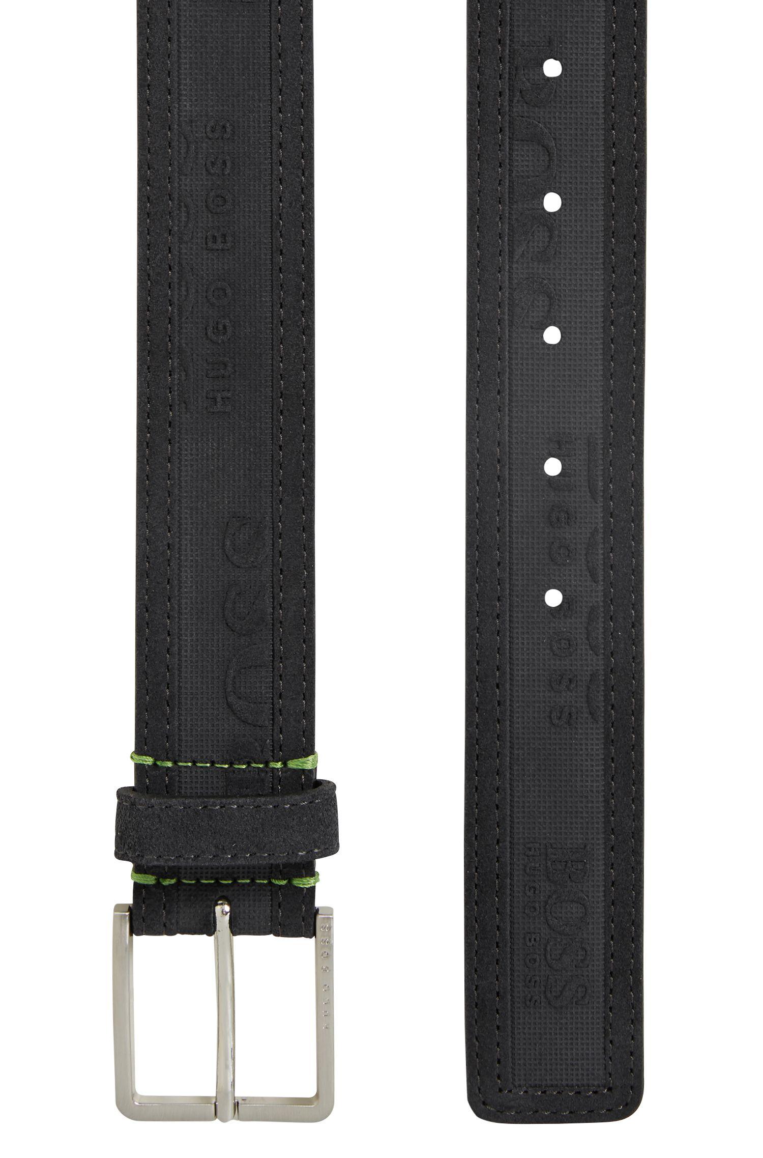 Hugo Boss - Ceinture à logo embossé en daim doux - 3