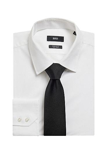 意大利制造桑蚕丝提花领带,  001_黑色