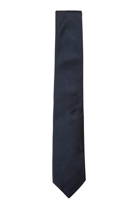 イタリア製ネクタイ シルクジャカード, ダークブルー