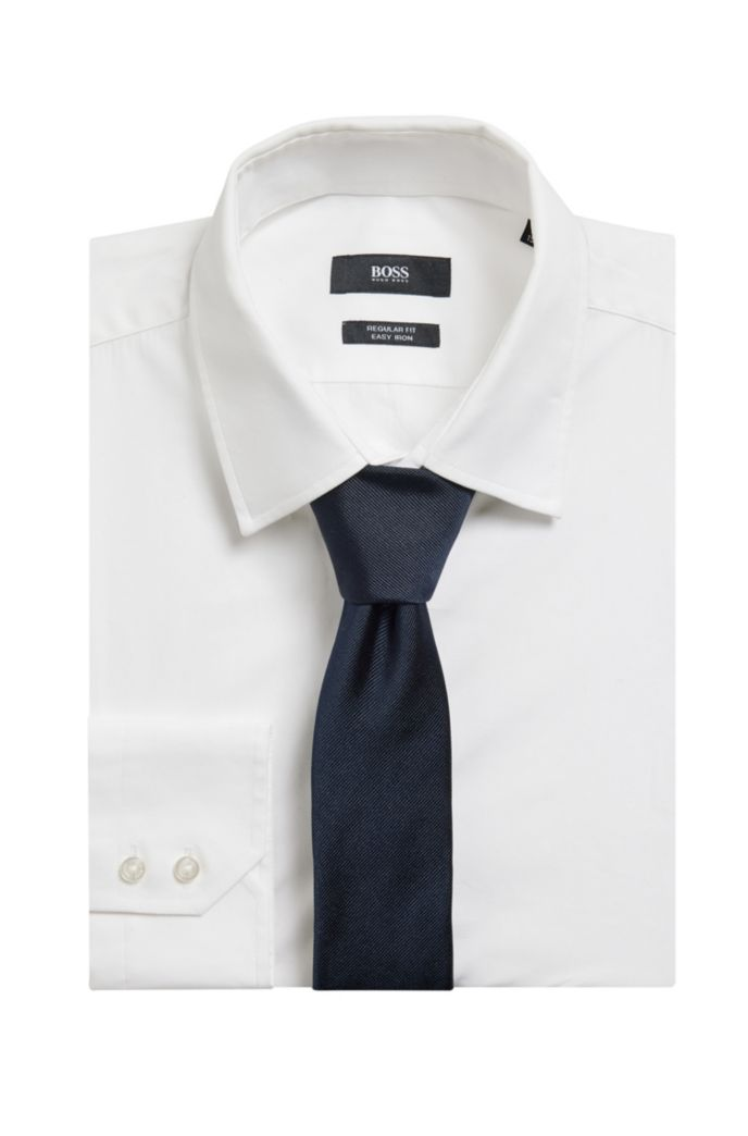 In Italien gefertigte Jacquard-Krawatte aus Seide