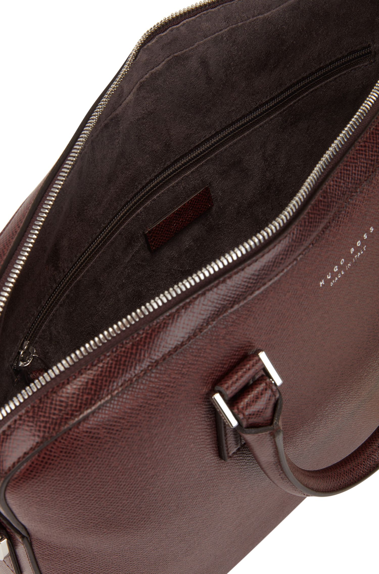 Signature Collection document case in printed palmellato leather, Dark Red