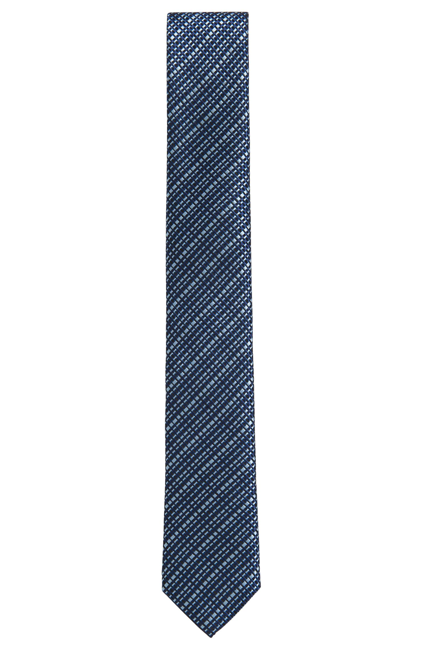 Italian-made textured silk-jacquard tie