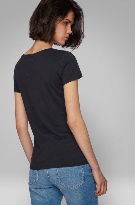 hot sale online 040db 3b417 BOSS - T-Shirt aus Single Jersey mit U-Ausschnitt