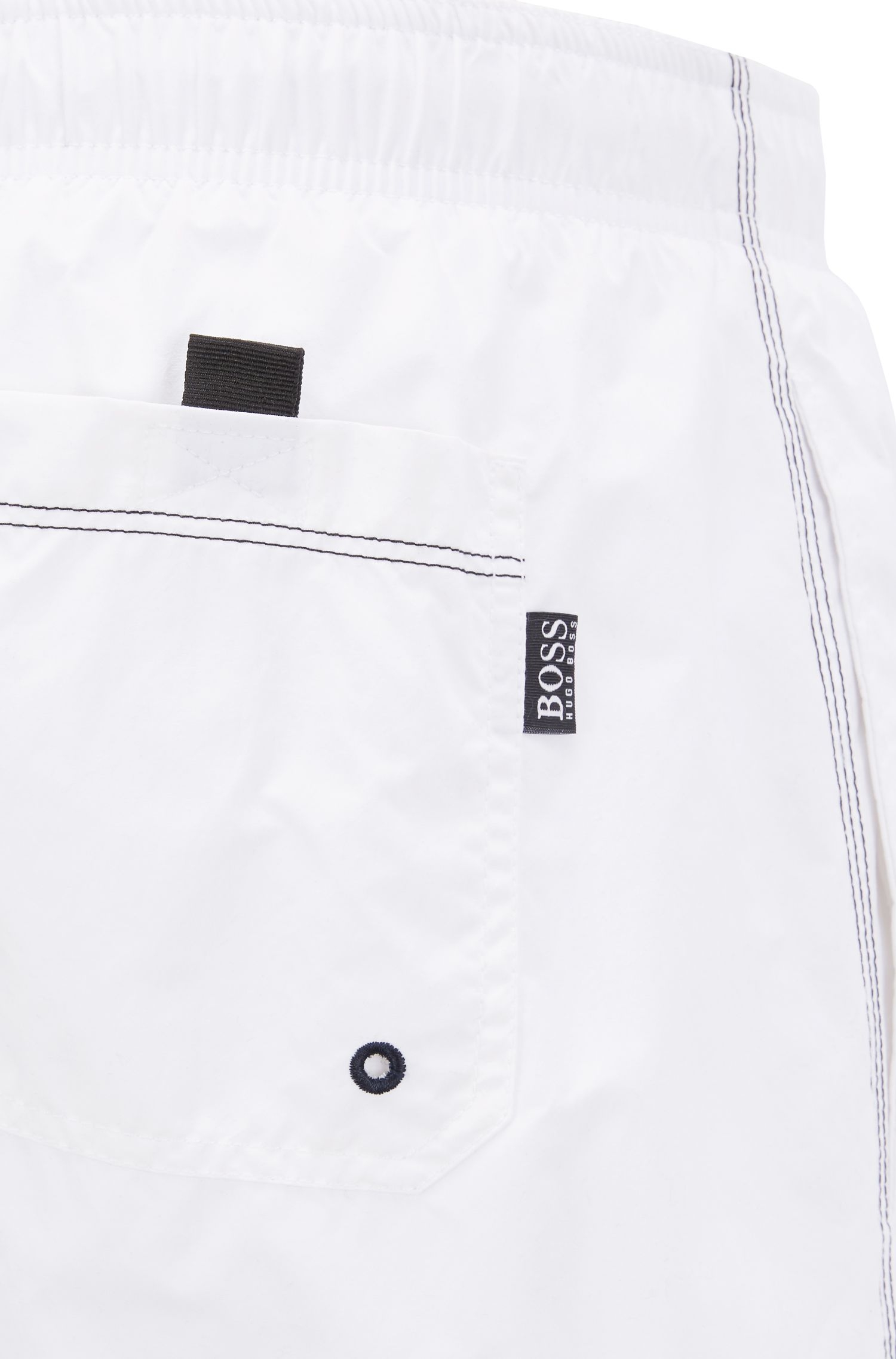 Swim shorts in quick-drying technical fabric, Open White