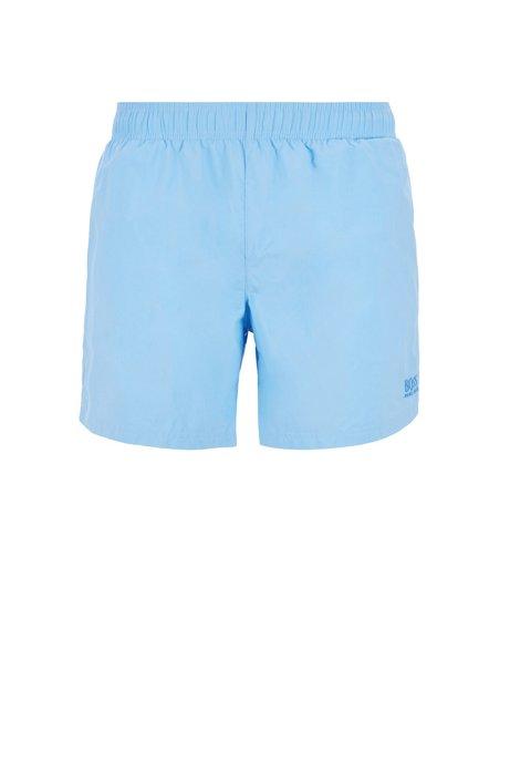 Bañador tipo shorts en tejido técnico con función de secado rápido, Celeste