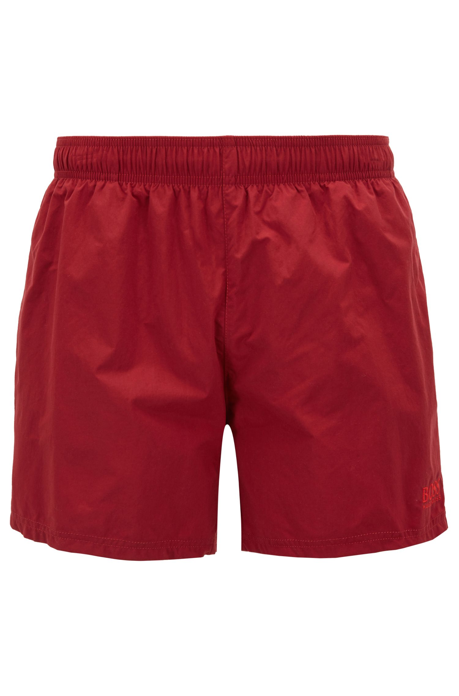 Swim shorts in quick-drying technical fabric, Dark Red