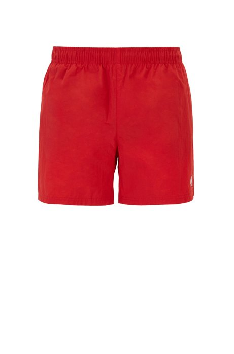 Swim shorts in quick-drying technical fabric, Red