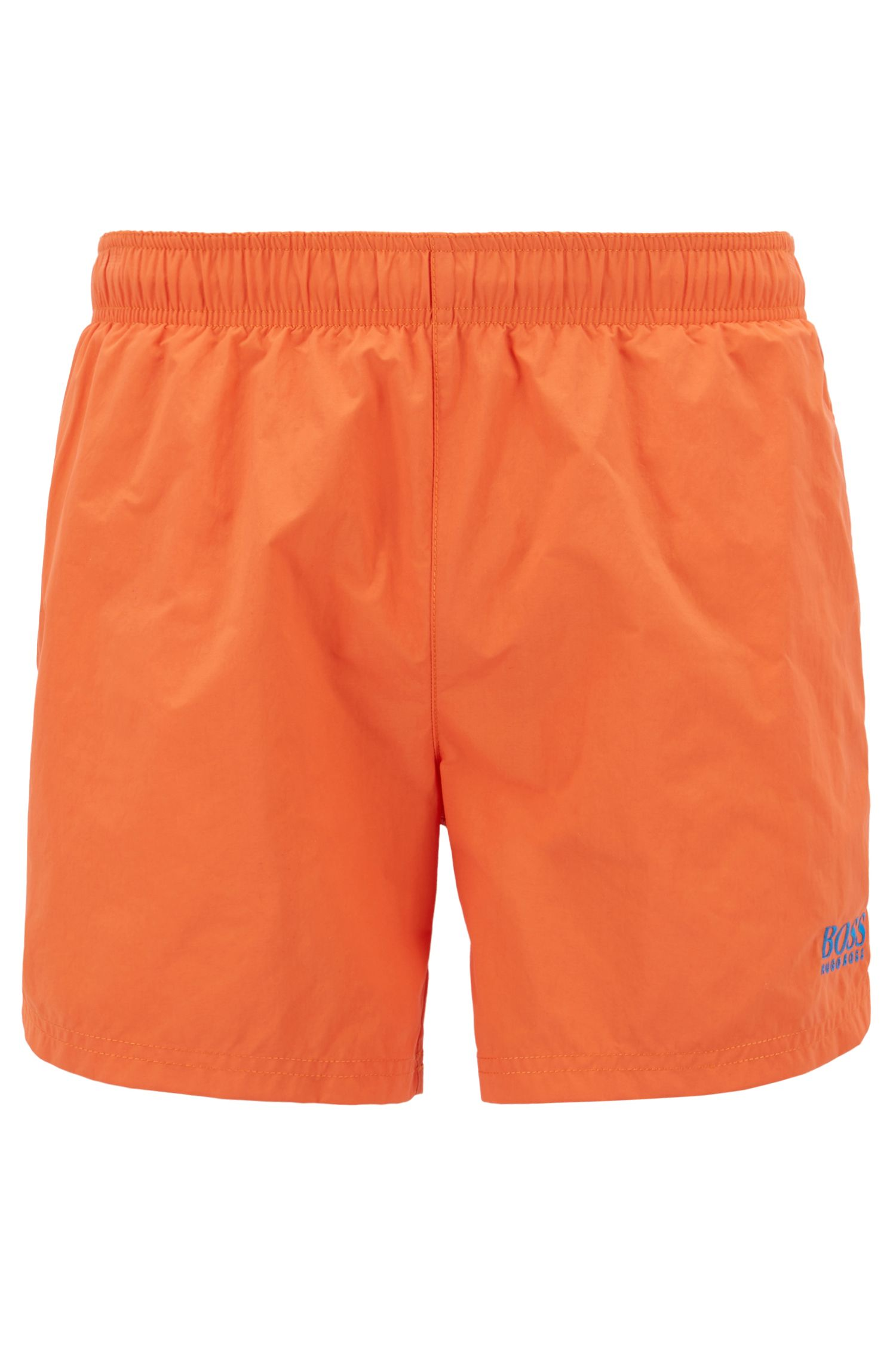 Swim shorts in quick-drying technical fabric, Orange