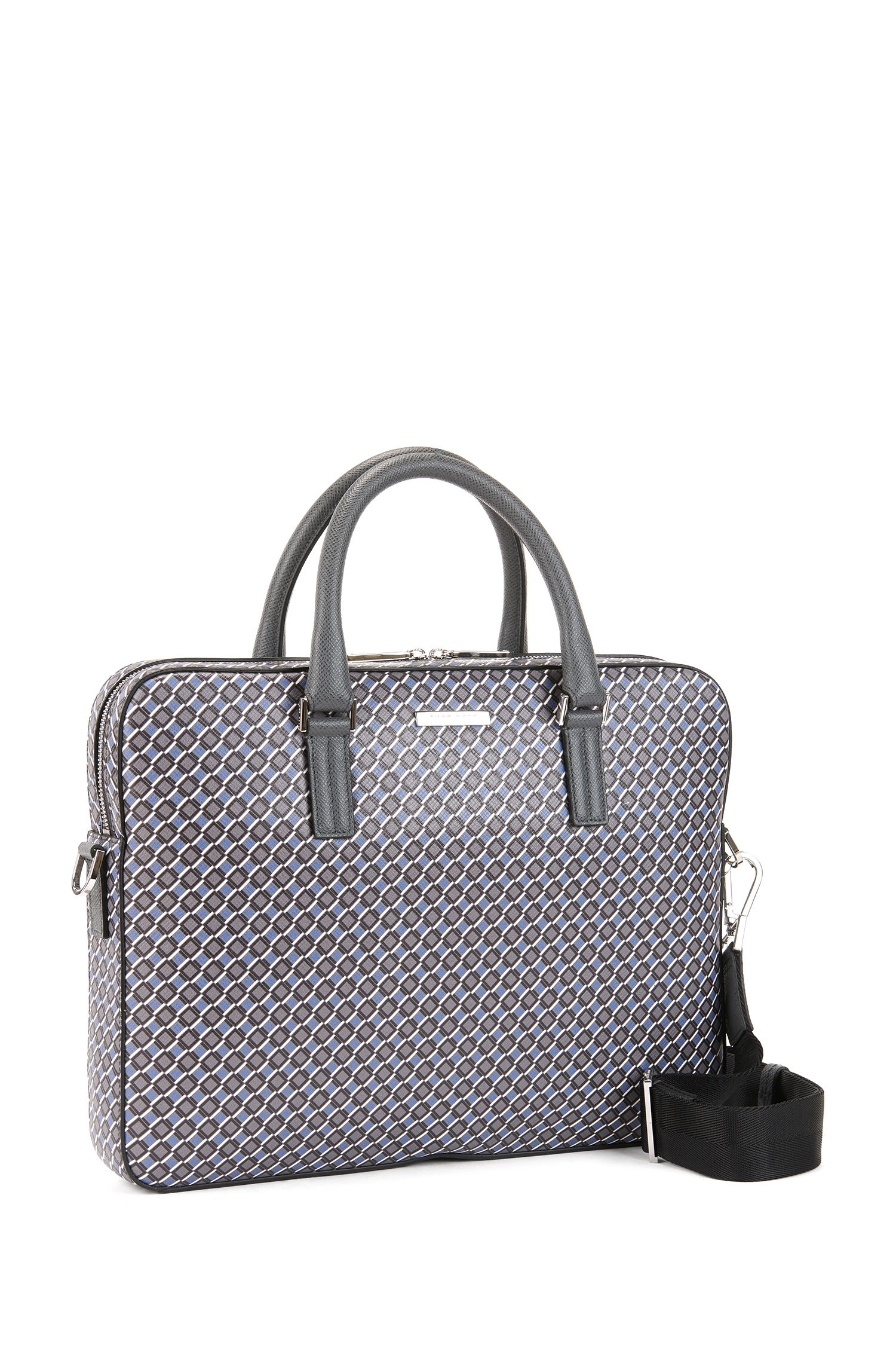 Signature Collection document case in seasonal-printed calfskin leather