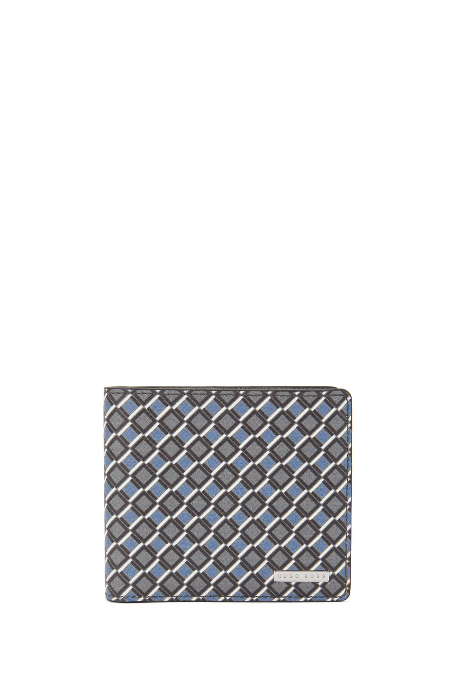 Signature Collection eight-card billfold wallet in printed leather, Patterned
