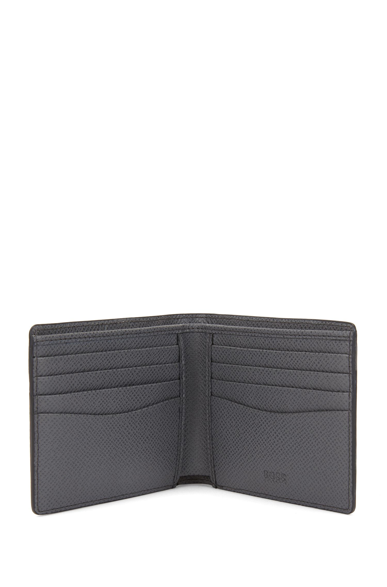 Signature Collection eight-card billfold wallet in printed leather