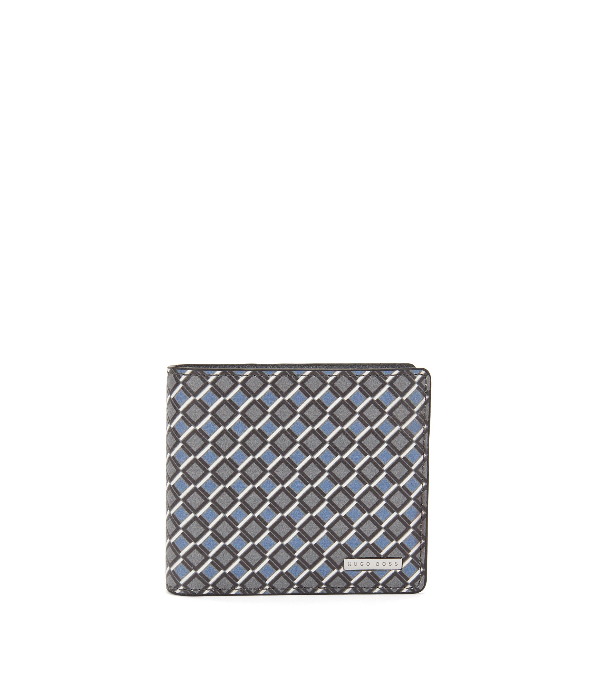 Signature Collection billfold wallet with coin pocket in printed leather, Patterned