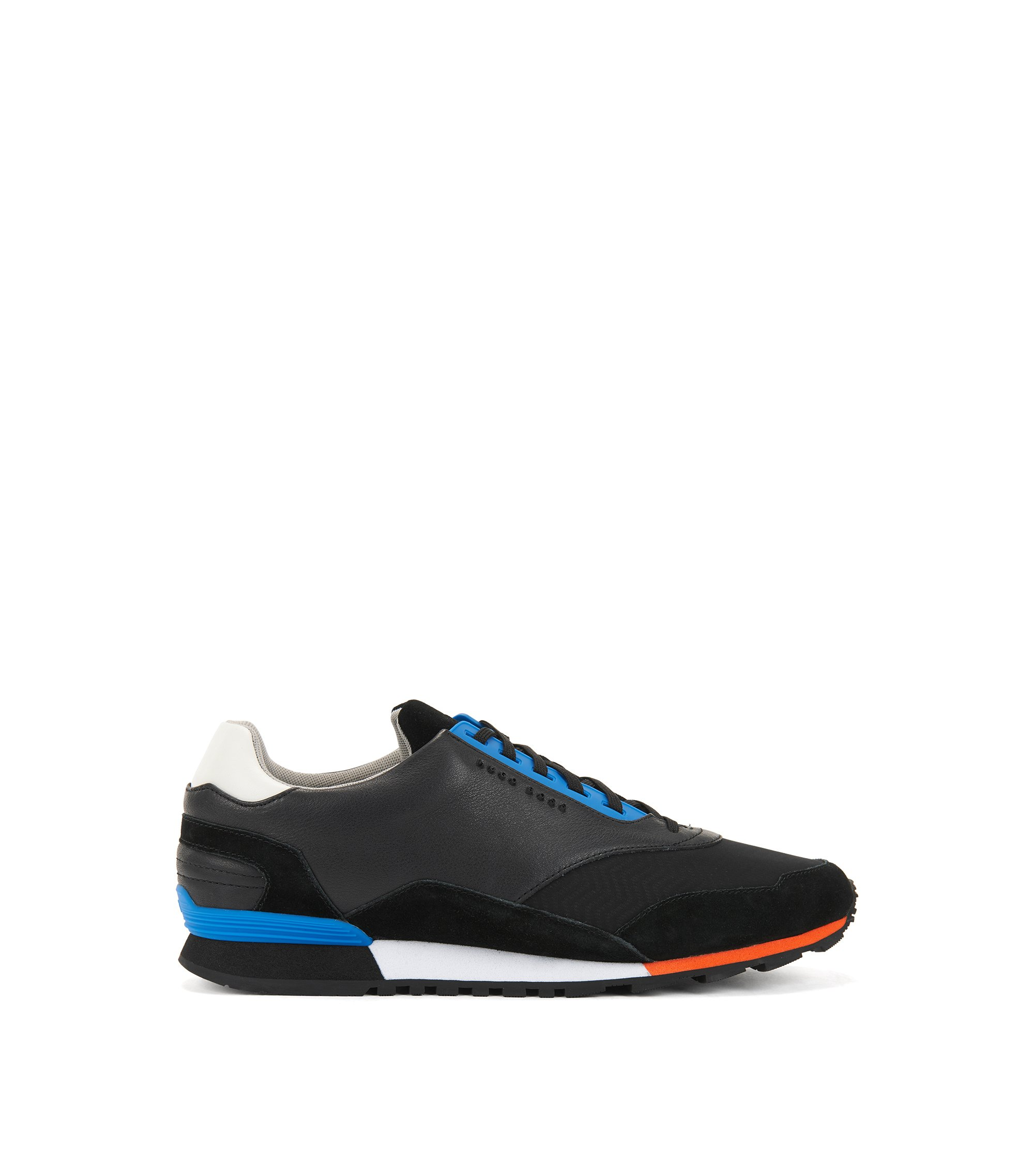 Low-profile trainers with hybrid uppers, Black