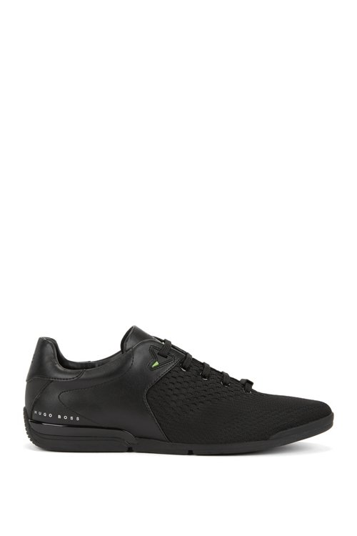 Hugo Boss - Low-profile trainers with jacquard-knit uppers - 1