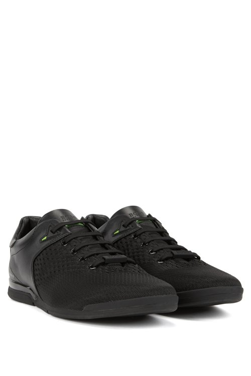 Hugo Boss - Low-profile trainers with jacquard-knit uppers - 2