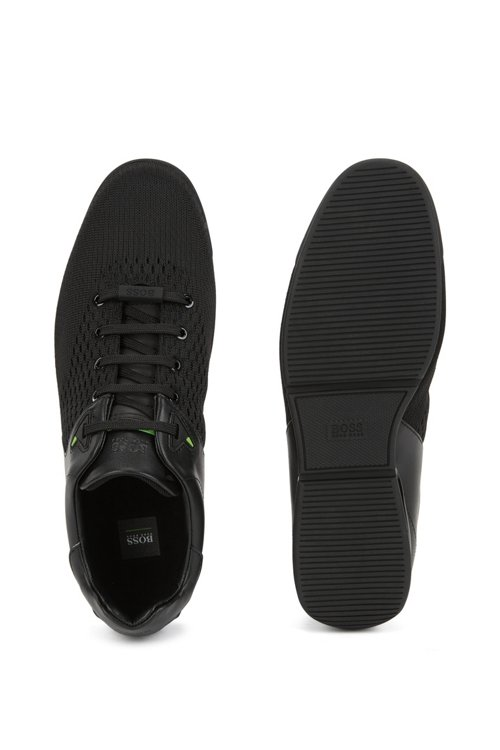 Hugo Boss - Low-profile trainers with jacquard-knit uppers - 4