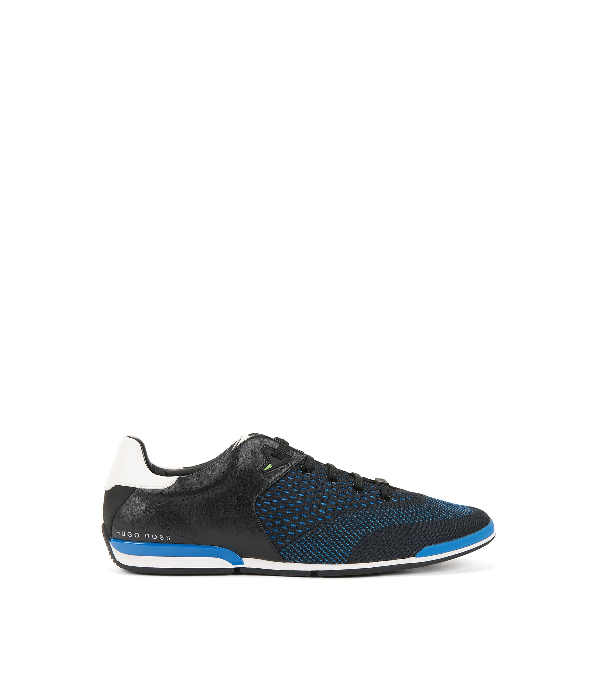 Low-profile trainers with jacquard-knit uppers, Dark Blue