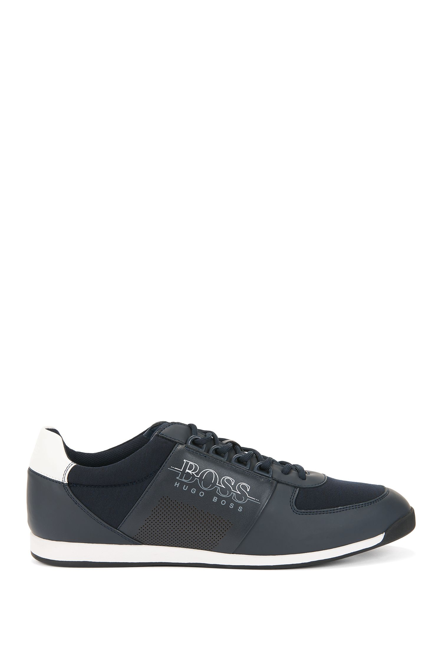 Low-profile trainers in neoprene and technical fabric