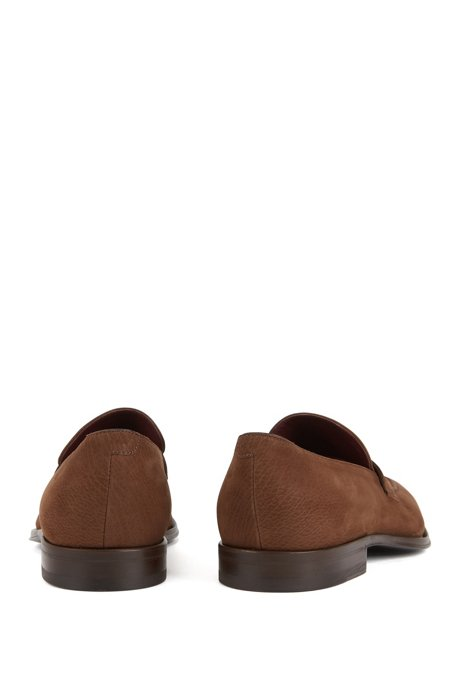 Penny loafers in nubuck calf leather BOSS DA5iG