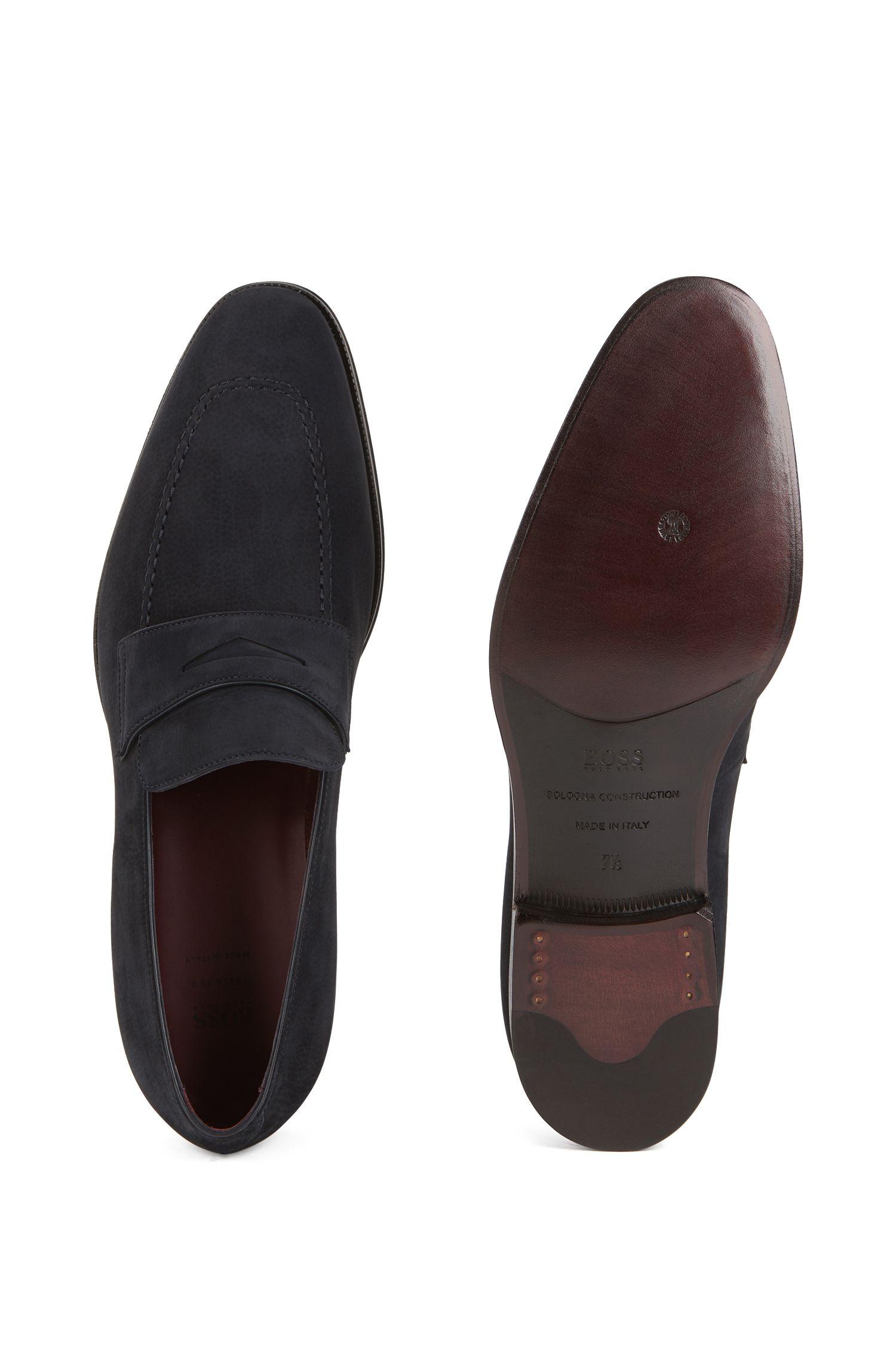 Loafers van kalfsnubuck, Donkerblauw