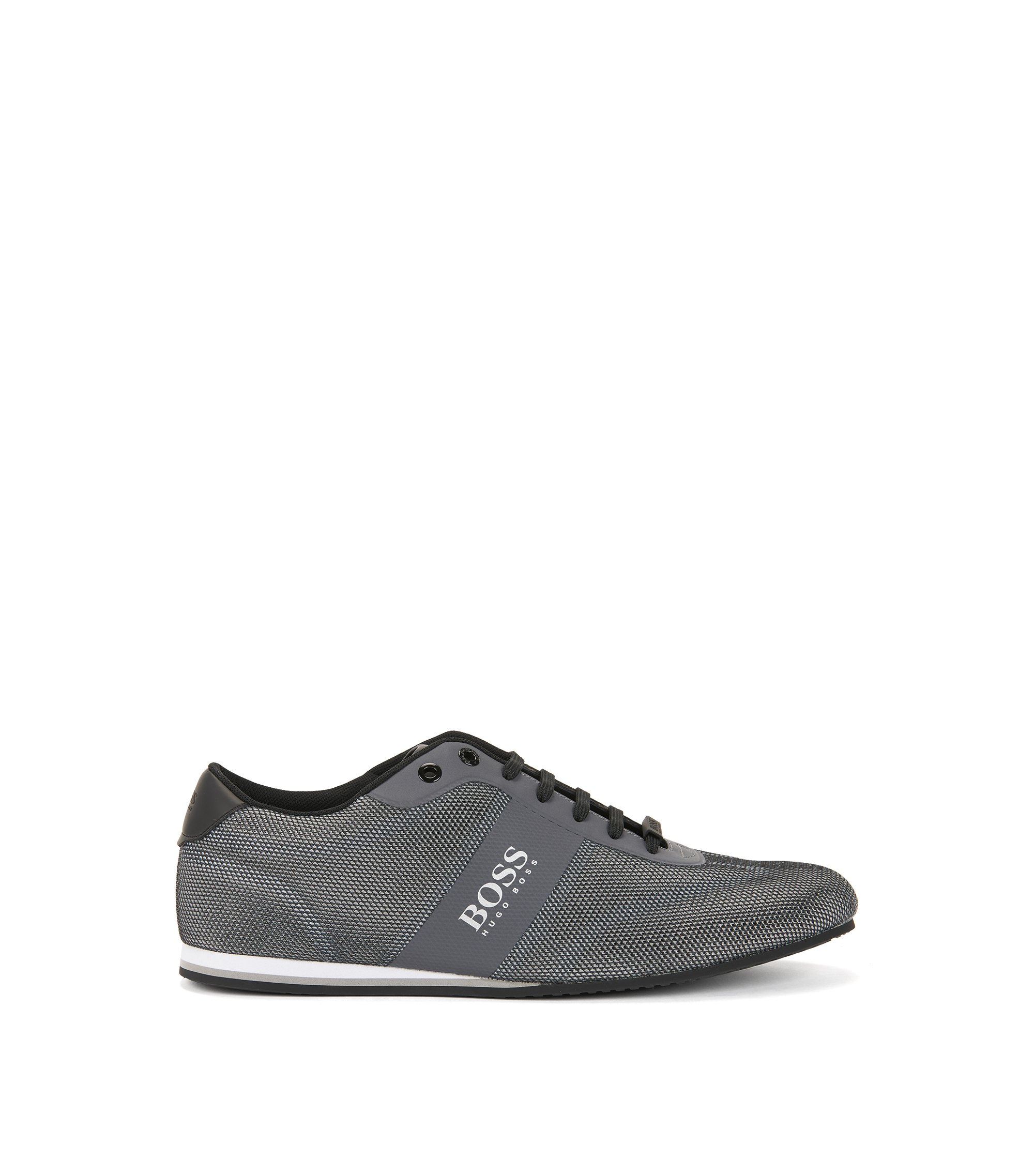 Low-top trainers with one-piece mesh uppers, Grey