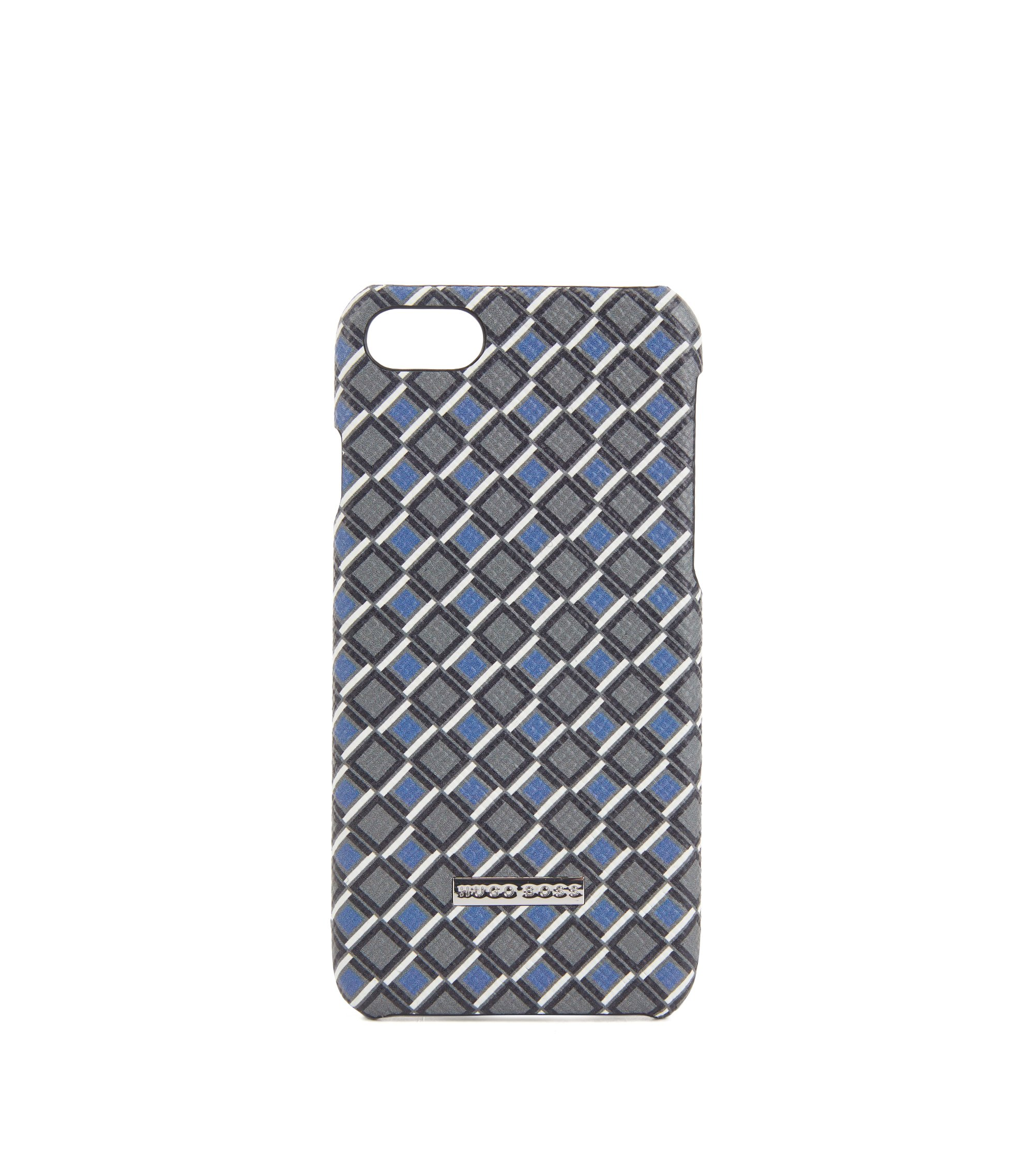 Signature Collection iPhone 8 cover in printed palmellato leather, Patterned
