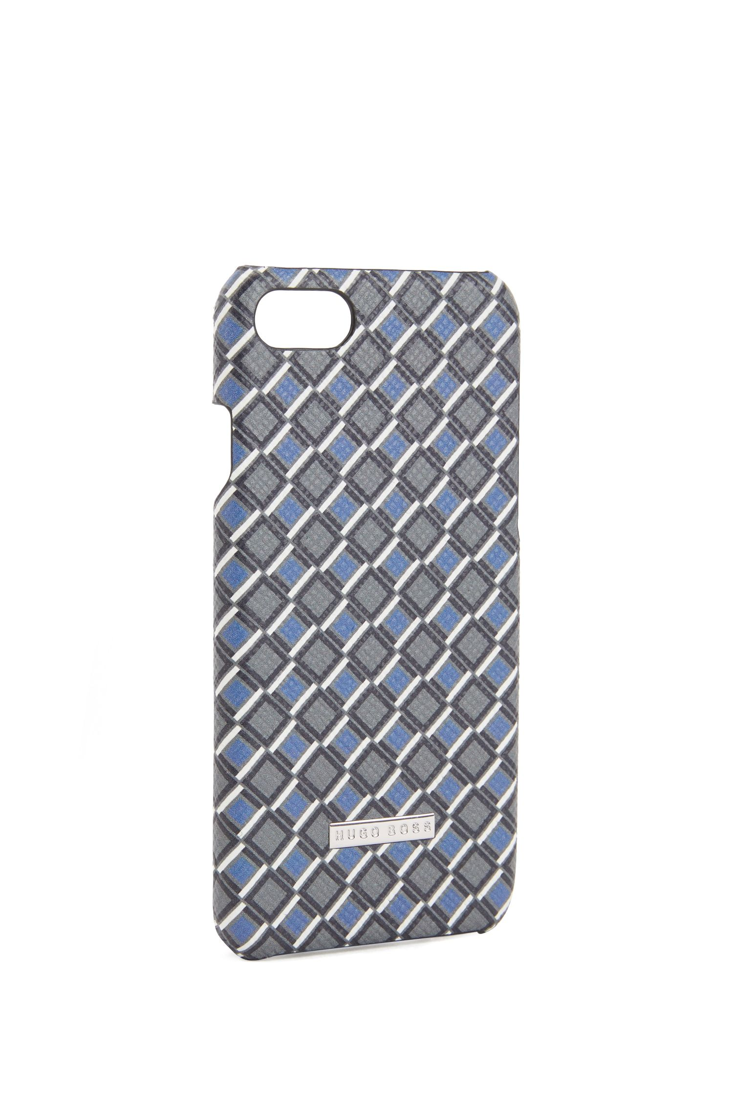 Signature Collection iPhone 8 cover in printed palmellato leather