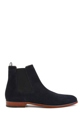 Shopping Online Free Shipping Clearance 2018 New Lace-up suede boots with logo-print padded collar HUGO BOSS Purchase Clearance Big Discount Rf89em