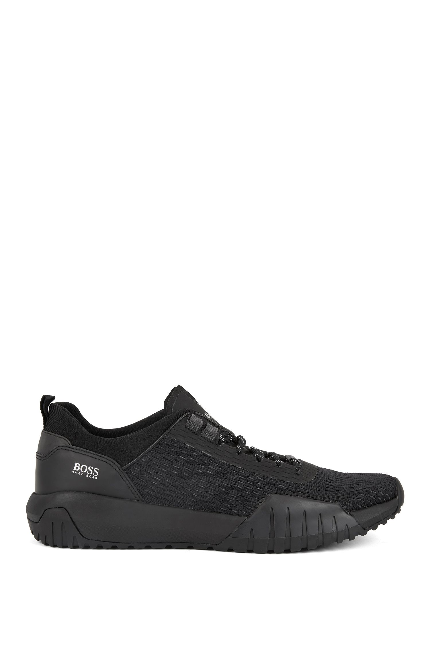 Hugo Boss - Running-inspired trainers with Strobel construction and reflective laces - 1