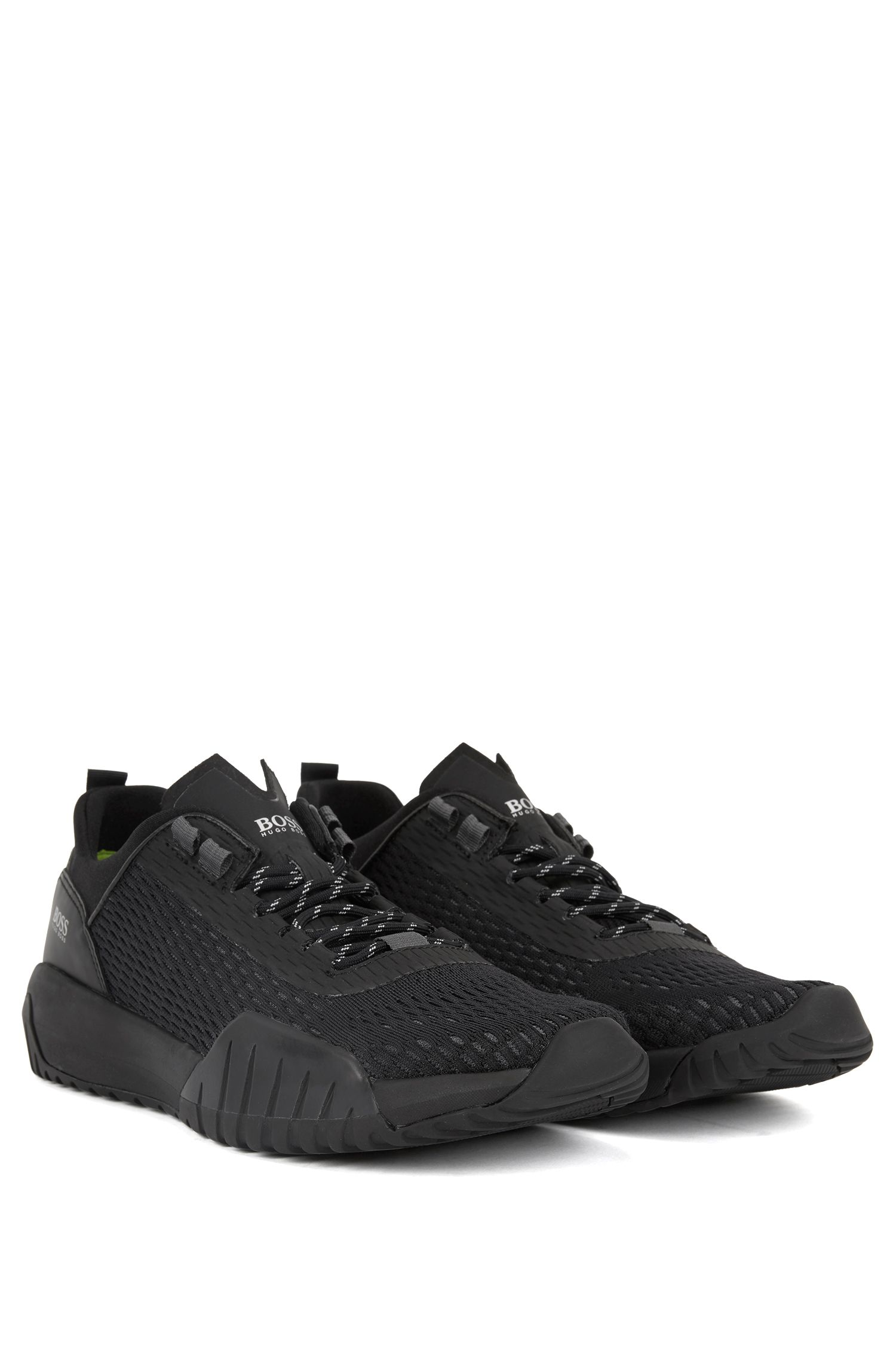 Hugo Boss - Running-inspired trainers with Strobel construction and reflective laces - 2