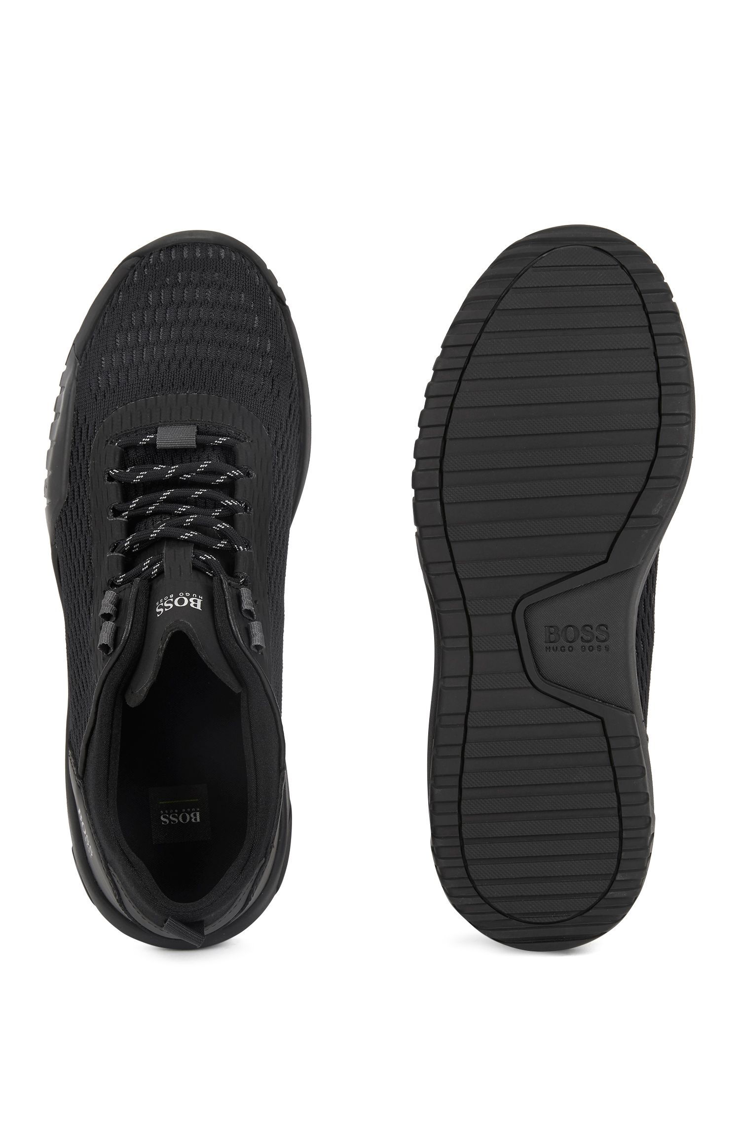 Hugo Boss - Running-inspired trainers with Strobel construction and reflective laces - 4