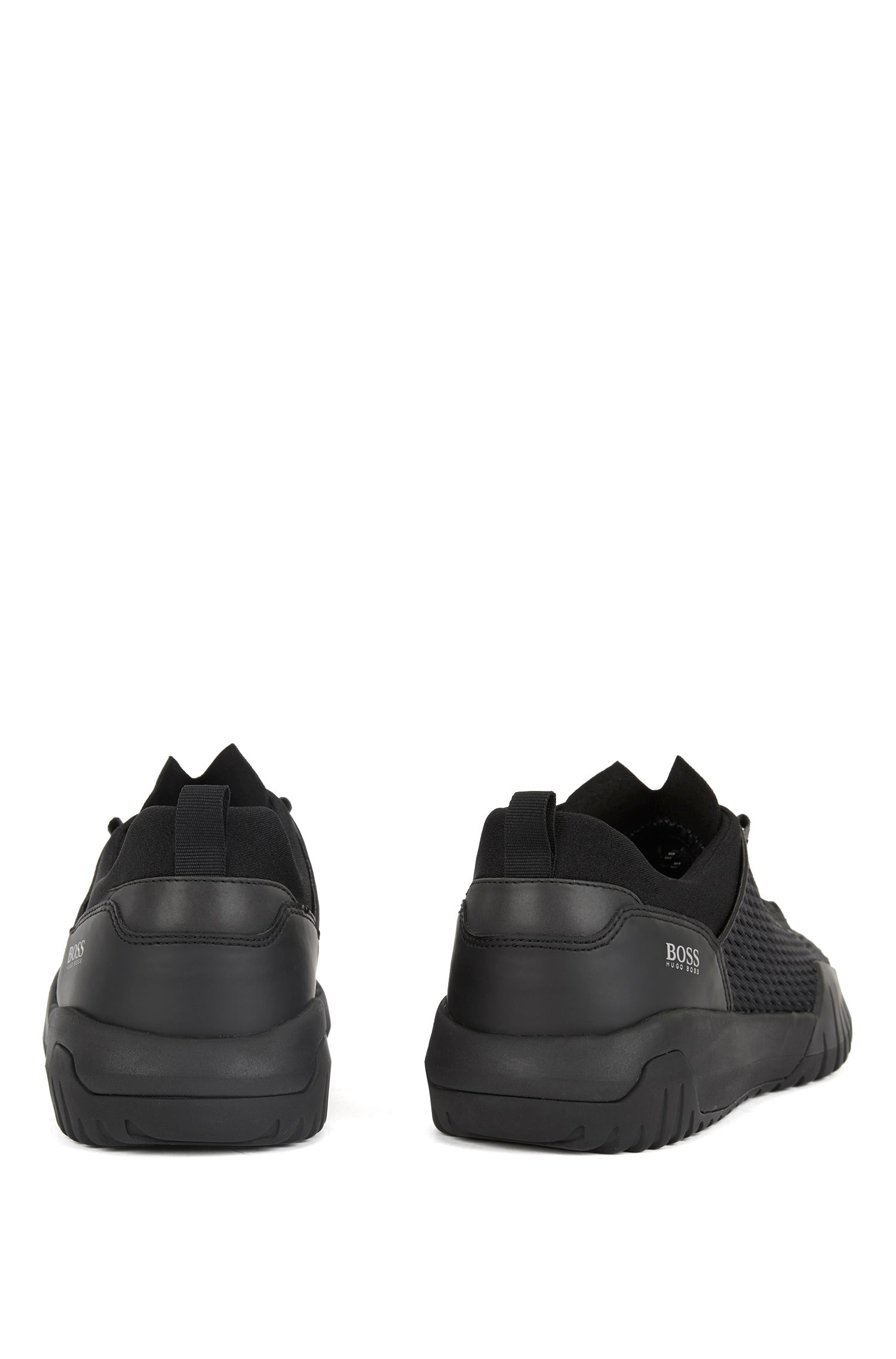 Hugo Boss - Running-inspired trainers with Strobel construction and reflective laces - 5