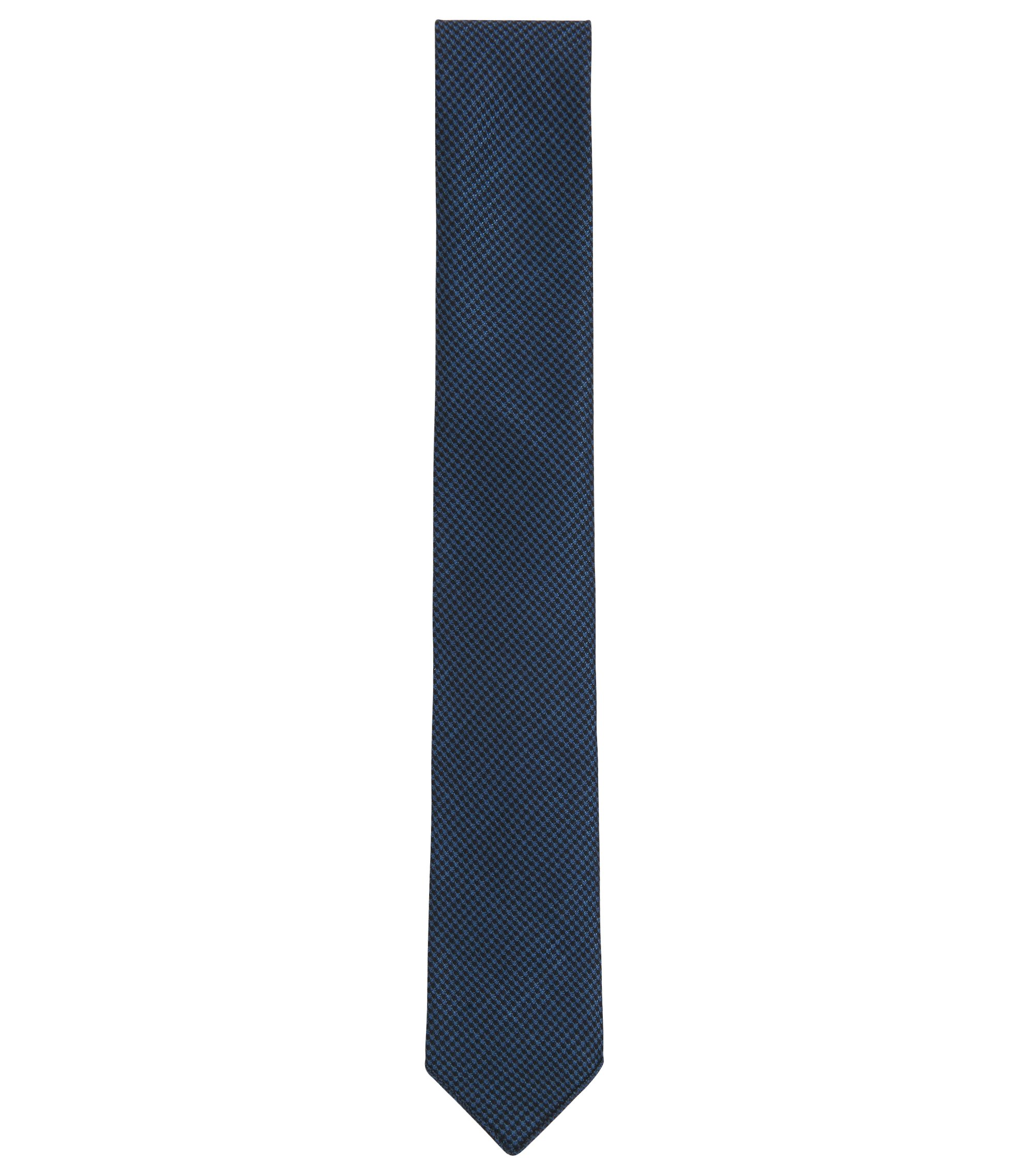 Italian-made houndstooth tie in a virgin-wool blend, Light Blue