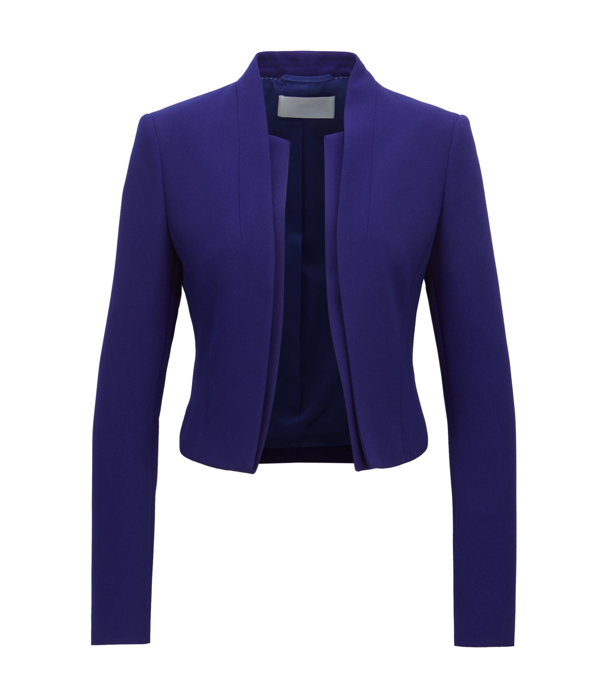 Regular-fit cropped jacket with layered effect, Purple