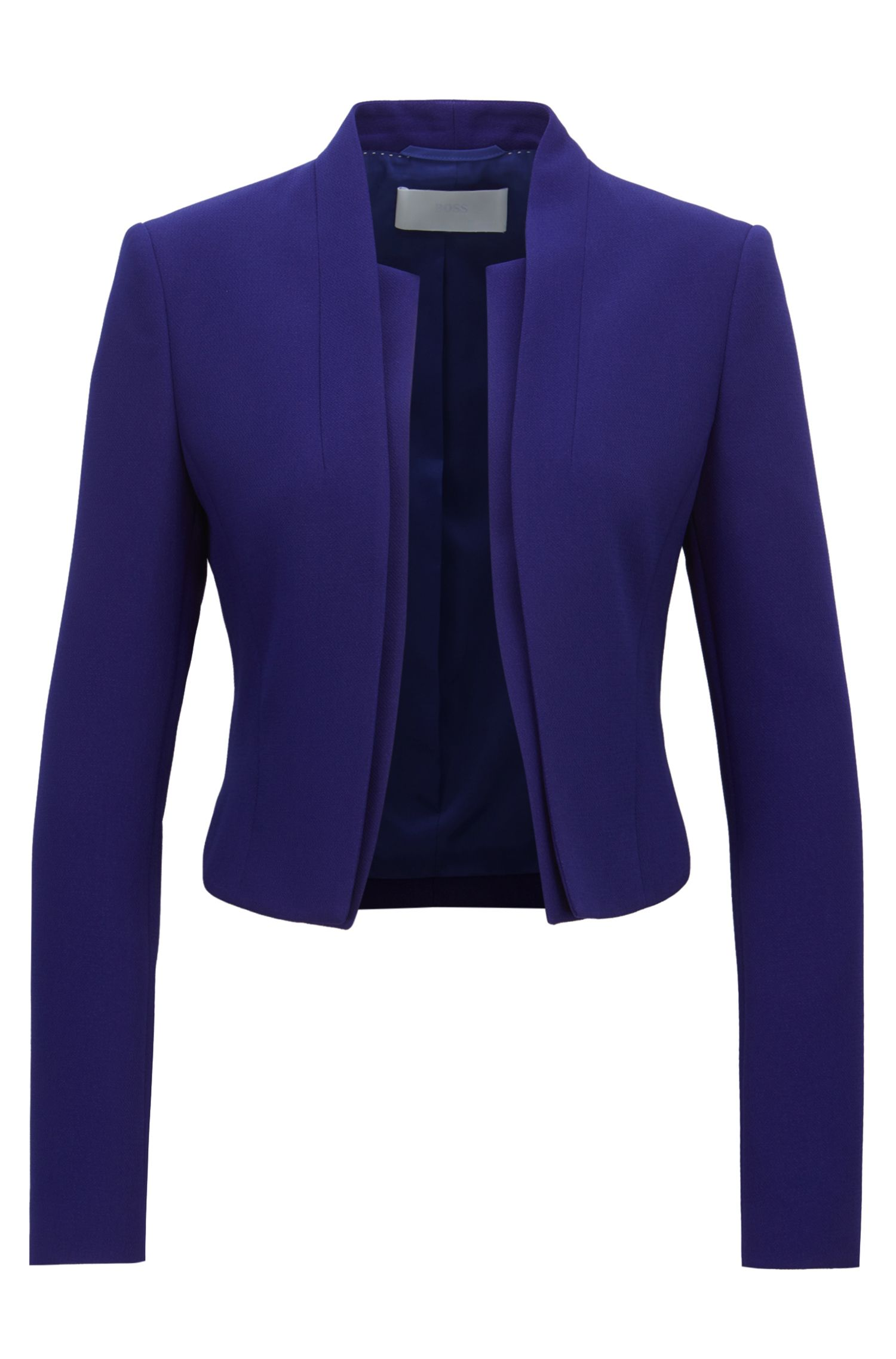 Regular-fit cropped jacket with layered effect