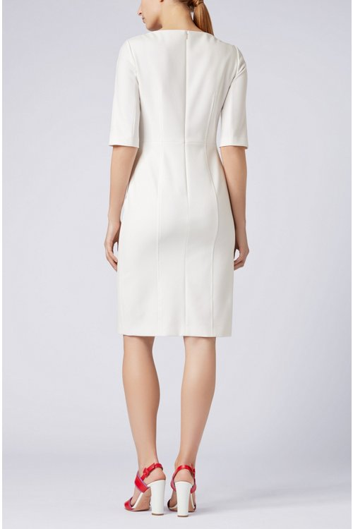 Hugo Boss - Three-quarter-sleeve dress with button detailing - 3