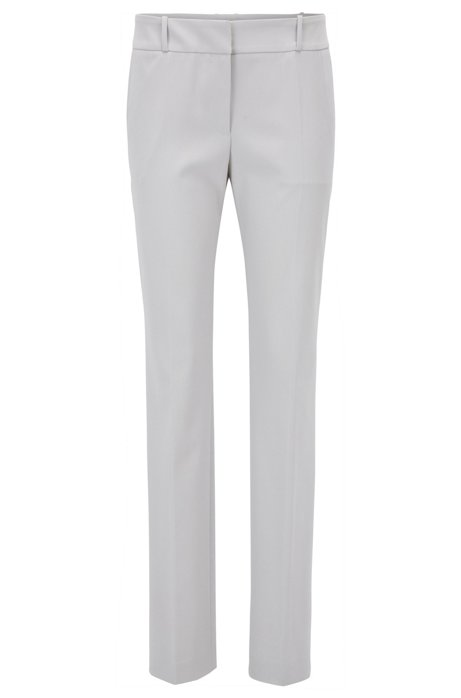 Regular-fit trousers in a stretch virgin-wool blend BOSS qYinDSHF
