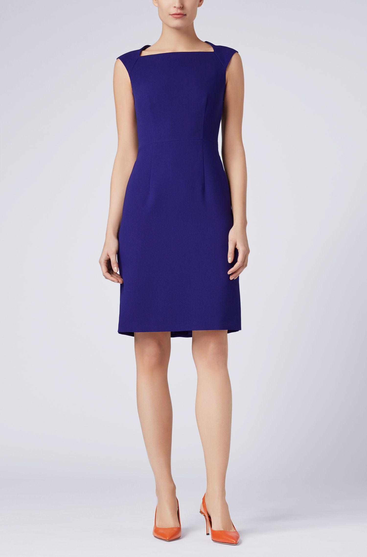 Sleeveless crepe dress with cutaway back