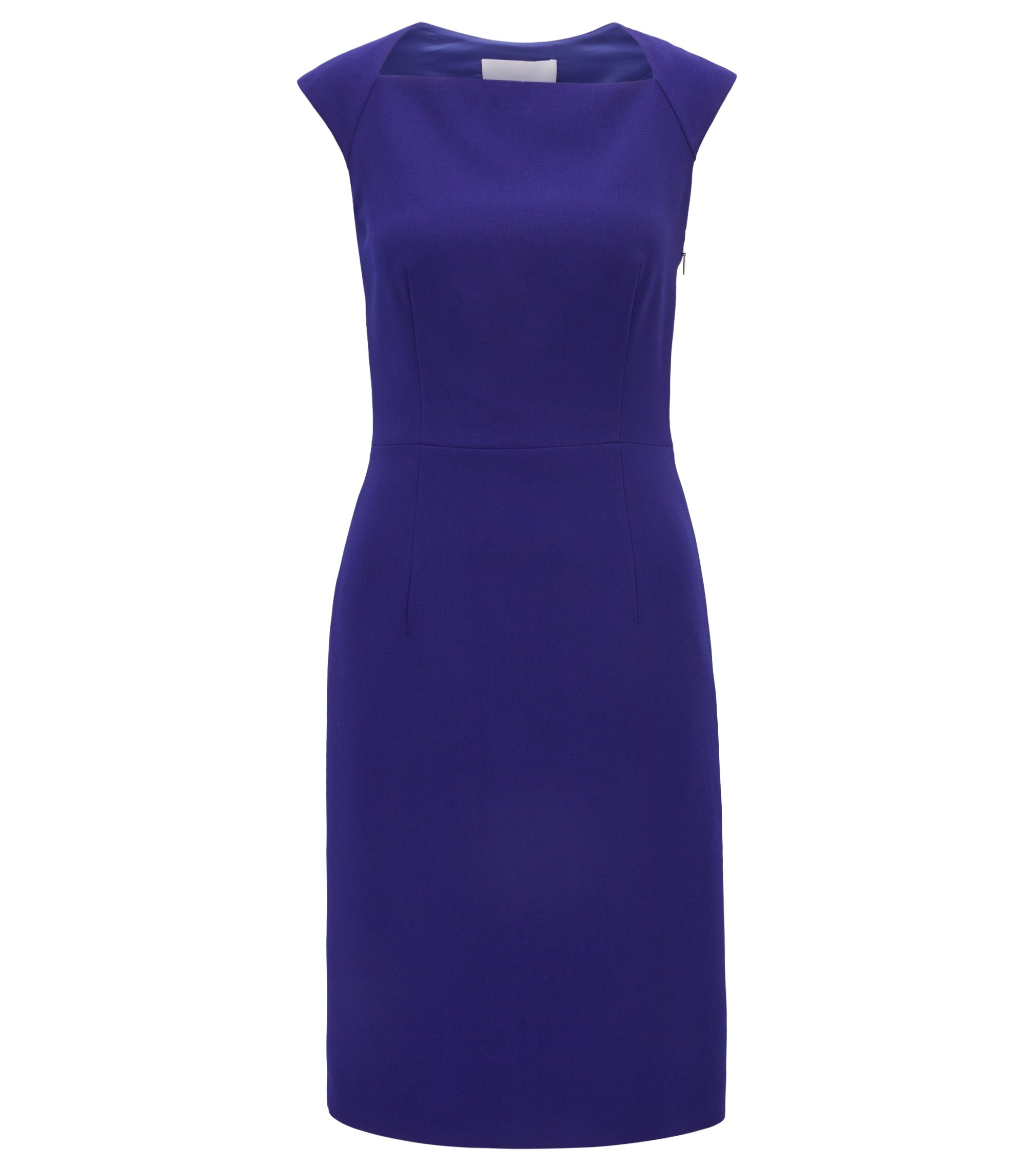Sleeveless crepe dress with cutaway back, Open Purple