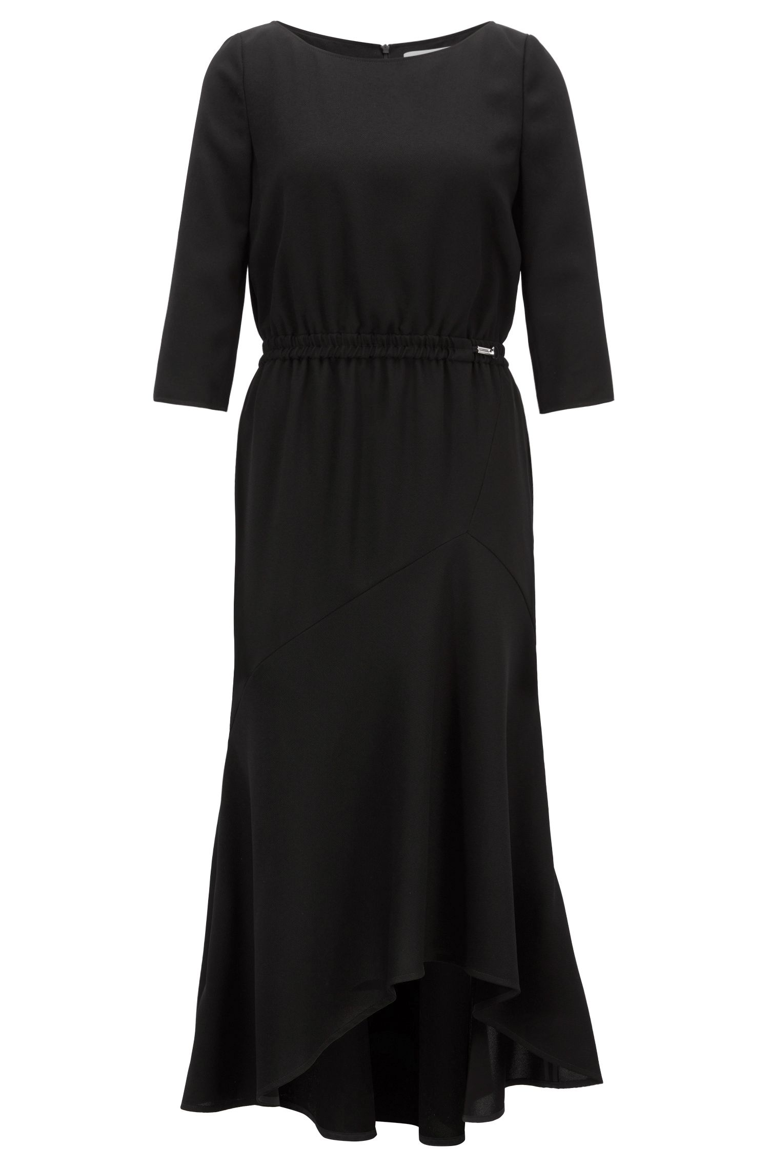 Hugo Boss - Crepe maxi dress with volant skirt - 1