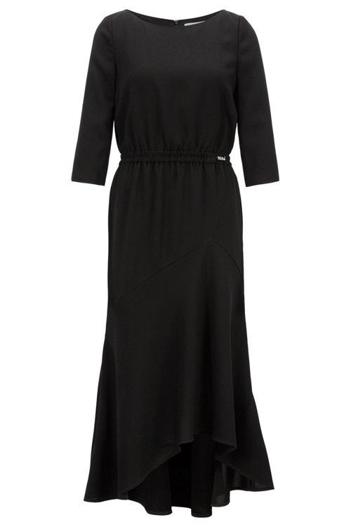 Hugo Boss - Crepe maxi dress with volant skirt - 1