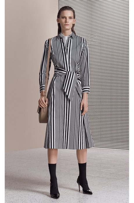 Striped cotton poplin shirt dress with tie waist BOSS Countdown Package Sale Online Clearance Pay With Visa New And Fashion Supply QrN1ju43