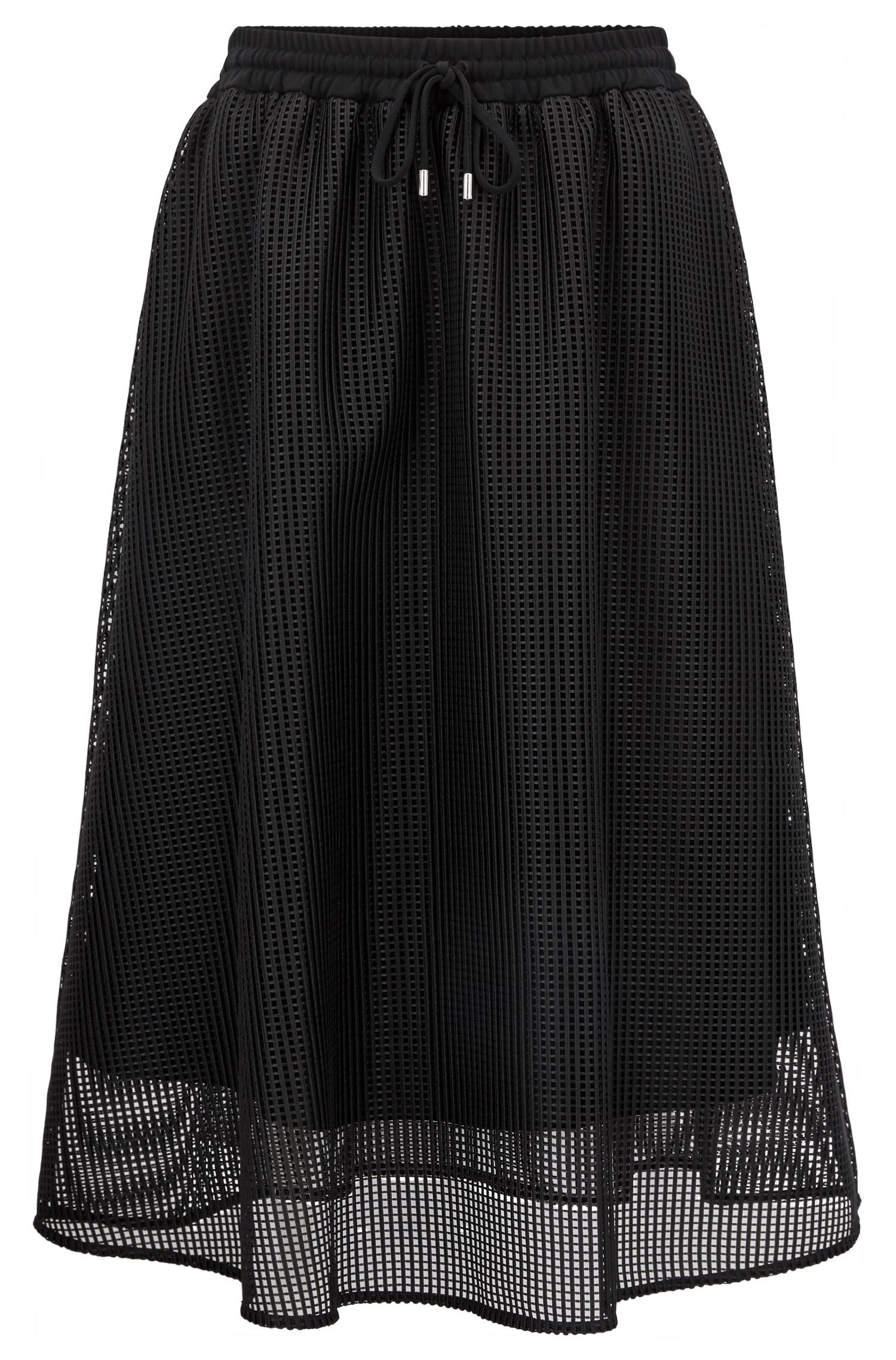 A-line mesh skirt with drawstring waist