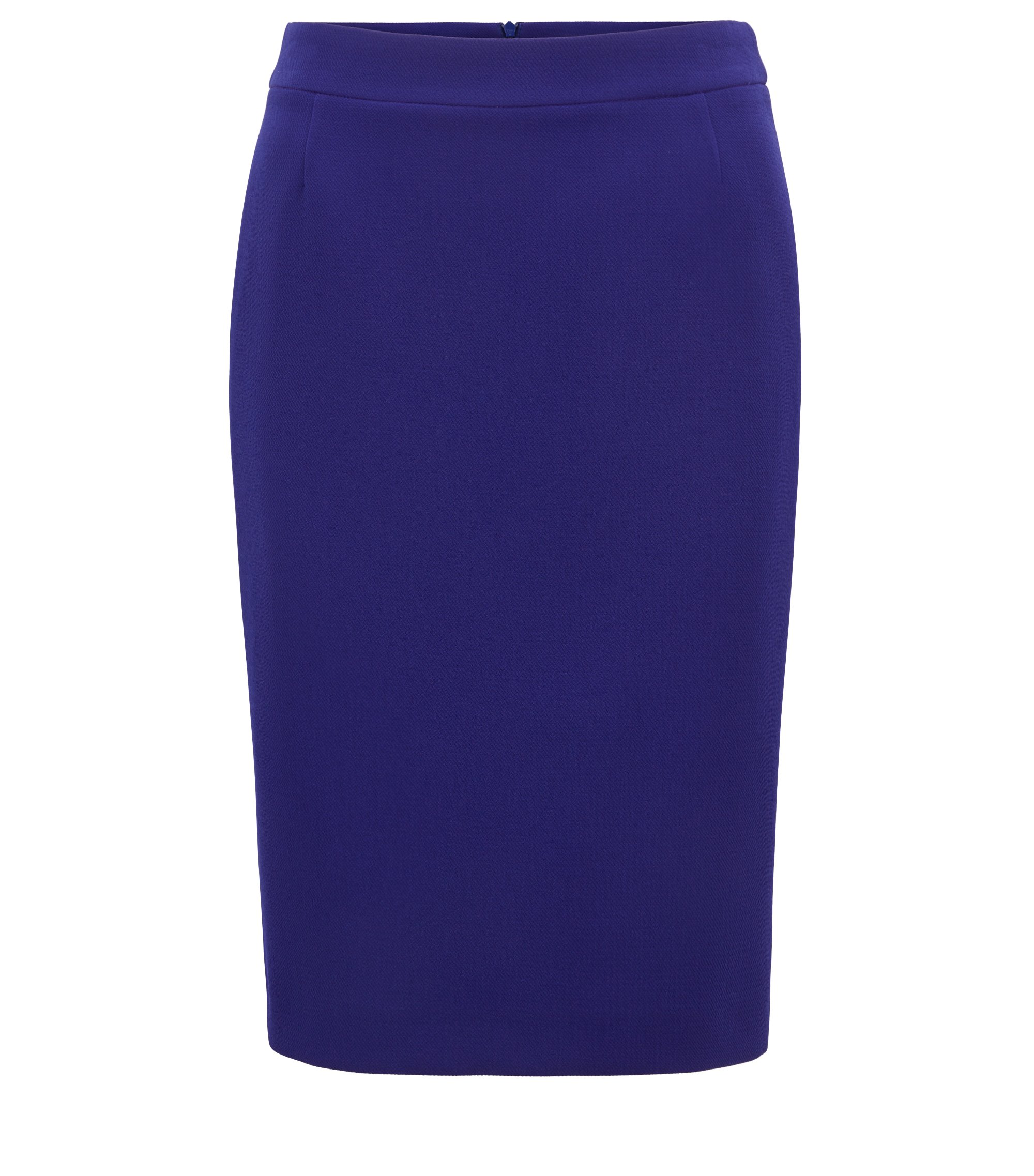 Regular-fit pencil skirt in structured crepe, Purple