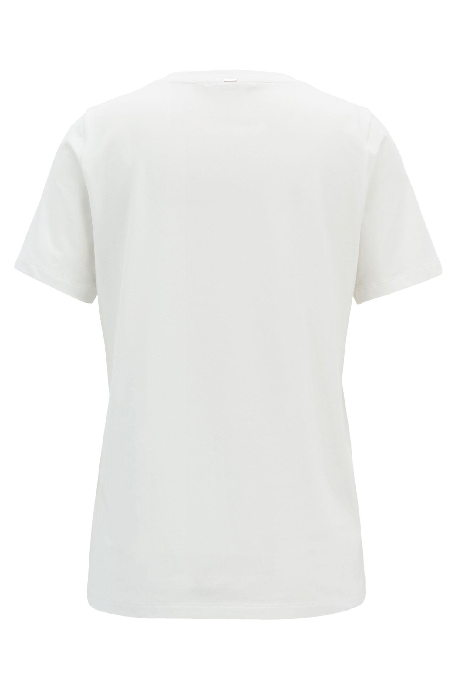 T-shirt en doux tissu stretch avec message imprimé, Chair