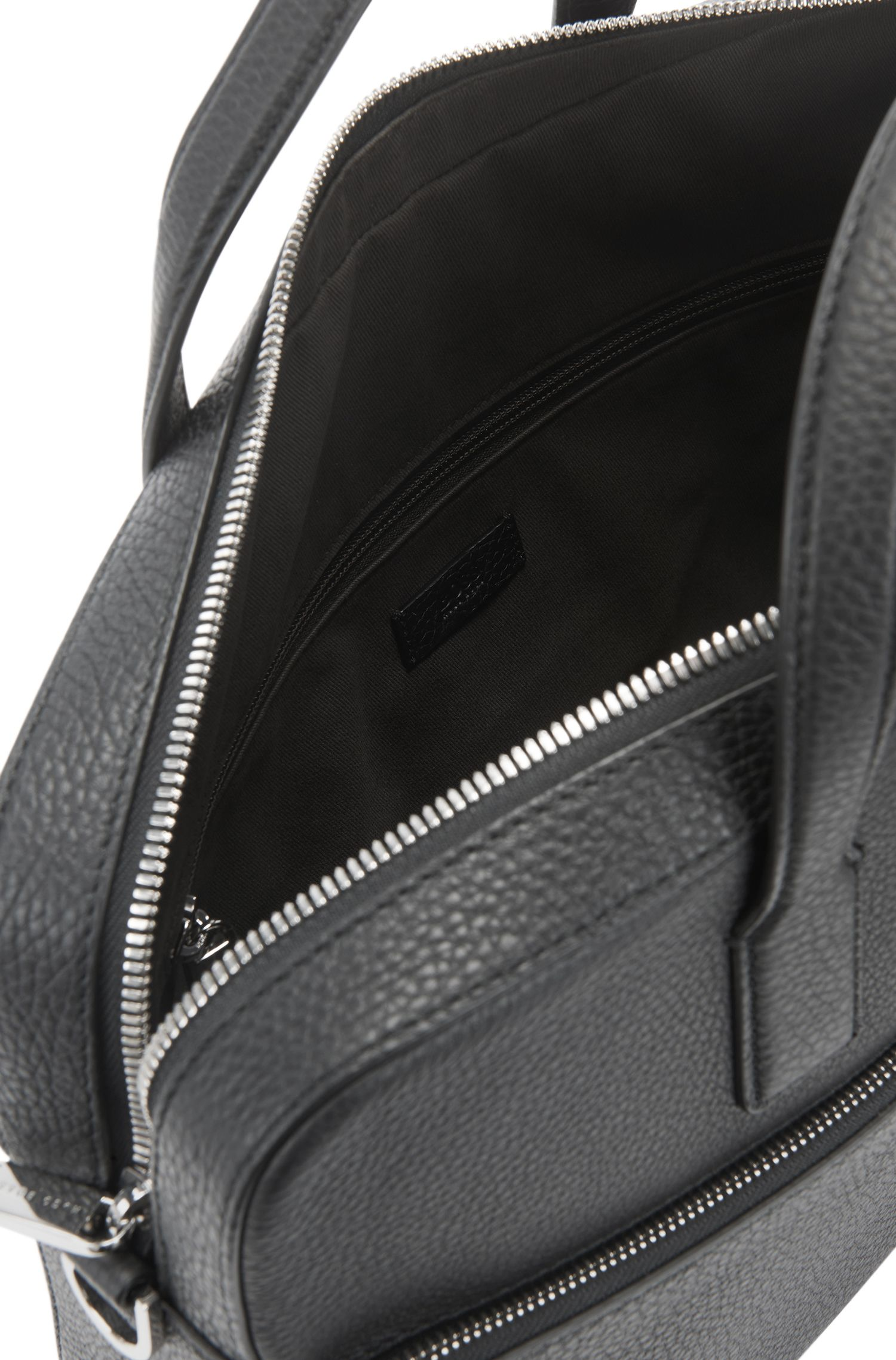 Aktentasche aus genarbtem italienischem Leder