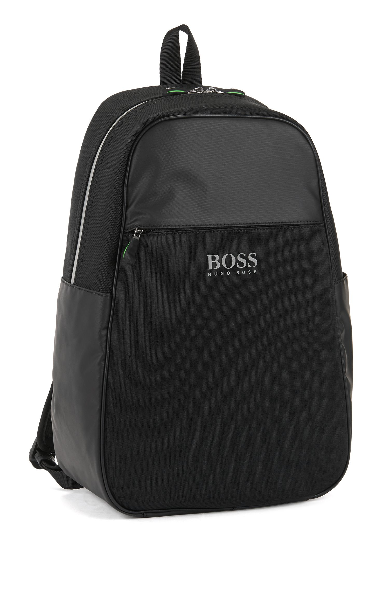 Backpack with headphone port and laptop compartment