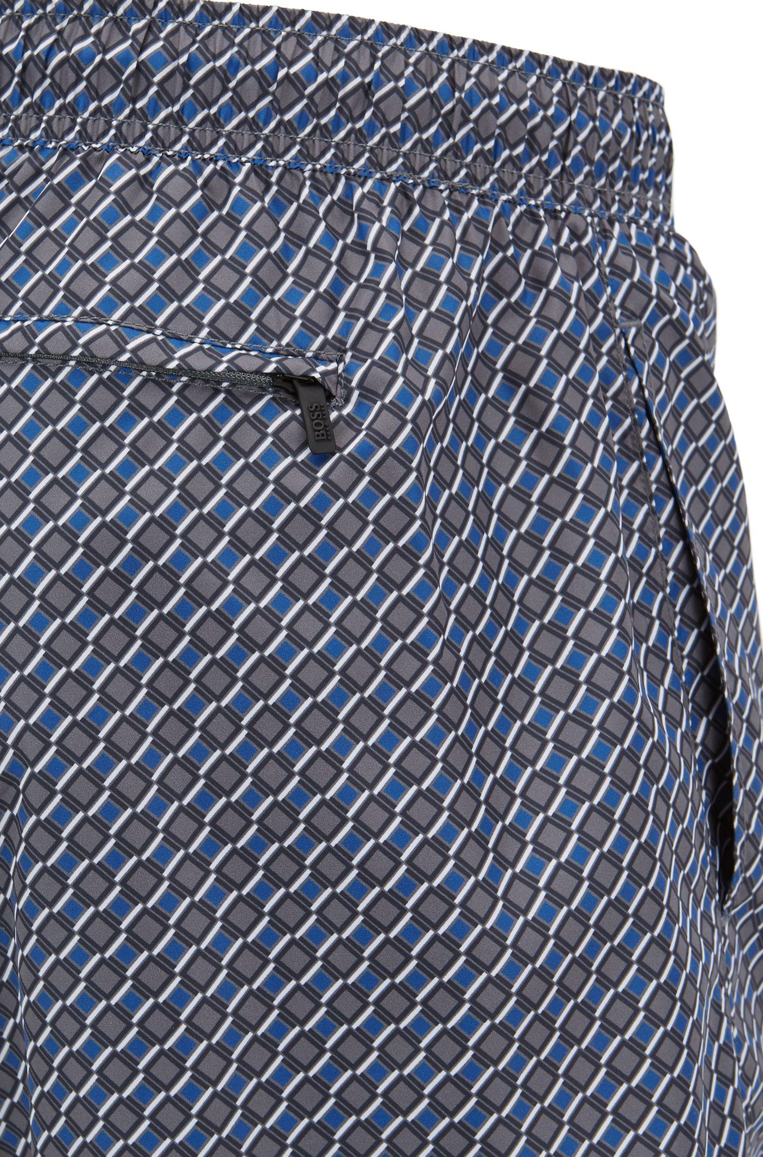Leichte Badeshorts mit Komfortbund und Muster-Print